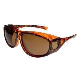 Fit Over-Glasses Grande Polarised Sunglasses with Brown Lenses Large Size