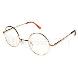 Round John Lennon Style Reading Glasses Gold Frame ML (Regular Size)