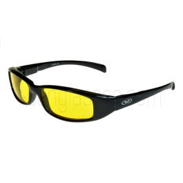 Global Vision New Attitude Rectangular Sunglasses Yellow Lenses M