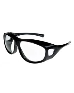 Fit Over-Glasses Grande Shatterproof Sunglasses with Clear Lenses Large Size
