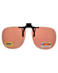 ClipFlipz Clip On Sunglasses Polarised Square/Copper
