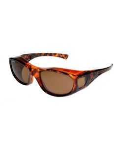 Fit Over-Glasses Piccolo Polarised Sunglasses with Brown Lenses Small Size