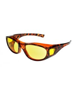 Fit Over-Glasses Piccolo Shatterproof Sunglasses with Yellow Lenses Small Size