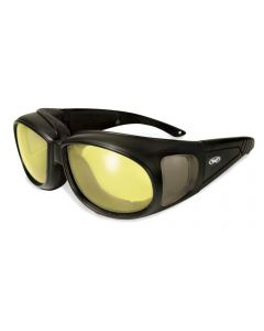 Global Vision Outfitter 24 Yellow-Photochromic Padded Fitover Glasses Medium