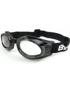 Birdz Kite Twin Eye Sports Goggles Black/Clear ML