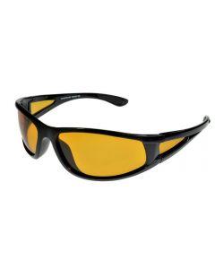 BadAss One-Eighty Wraparound Polarised Sunglasses Amber Lenses ML