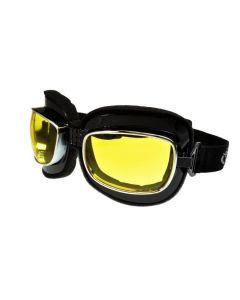 Global Vision Retro Joe Motorcycle Goggles ML Yellow Lenses