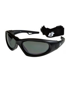 Birdz Gull Floating Convertible Sports Sunglasses/Goggles Black/Smoke Large Size