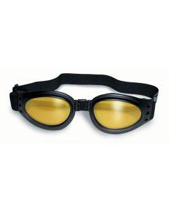 Global Vision Adventure Kids Twin Eye Goggles Black/Yellow-Mirror S