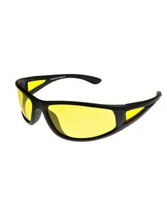 BadAss One-Eighty Wraparound Polarised Sunglasses Yellow Lenses ML