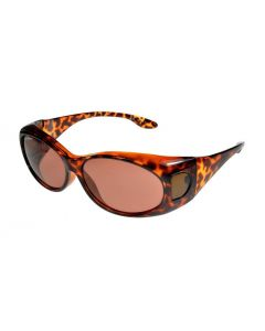 Fit Over-Glasses Piccola Slim Polarised Sunglasses with Copper Lenses Small Size
