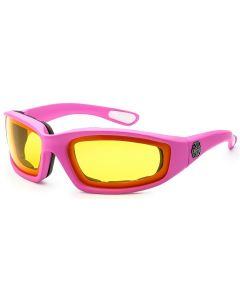 Choppers Padded Sunglasses 8CP901 Pink/Yellow M
