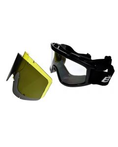 Birdz Vulture Interchangeable MX Motorcycle Goggles 3 Lenses Kit ML