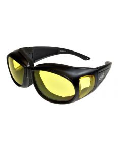 Global Vision Outfitter Padded Fitover Sun Glasses Black/Yellow Medium