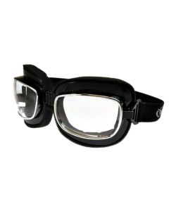 Global Vision Retro Joe Folding Motorcycle Goggles Clear Lenses ML