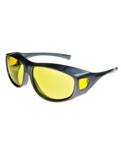 Fit Over-Glasses Grande Shatterproof Sunglasses with Yellow Lenses Large Size