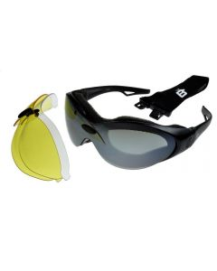 Birdz Phoenix Interchangeable Motorcycle Sunglasses/Goggles 3 Lens Kit ML