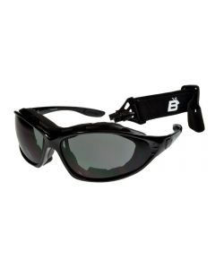 Birdz Thrasher Convertible Sports Motorcycle Padded Sunglasses Black/Smoke ML