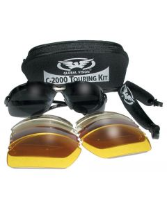 Global Vision C-2000 Interchangeable Sports Sunglasses 5 Lens Touring Kit ML