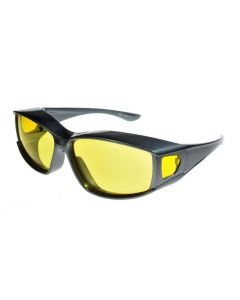 Fit Over-Glasses Medio Shatterproof Sunglasses with Yellow Lenses Medium Size
