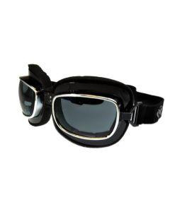 Global Vision Retro Joe Motorcycle Goggles ML Smoke Lenses