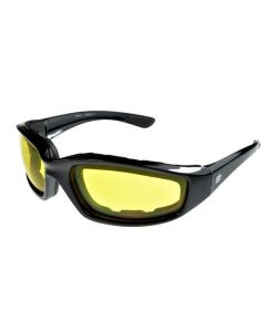 Birdz Oriole Sports Motorcycle Padded Sunglasses Yellow Lenses ML