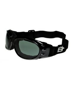 Birdz Eagle Polarised Sports/Motorcycle Goggles Black/Smoke ML