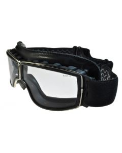 Birdz Condor 24 Photochromic Motorcycle Safety Goggles Black/Clear ML