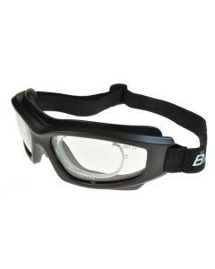 Birdz Flyer Sports/Motorcycle Goggles Black/Clear with Prescription Rx Insert ML