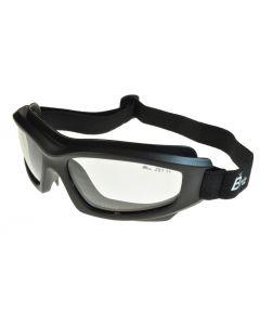 Birdz Flyer Twin Eye Sports/Motorcycle/Riding Safety Goggles Matt-Black/Clear ML