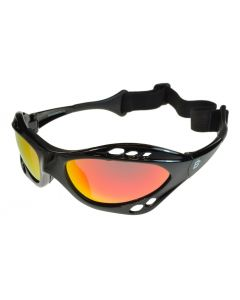 Birdz Seahawk Floating Polarised Water Sports Sunglasses Black/Fire-Revo Mirror ML