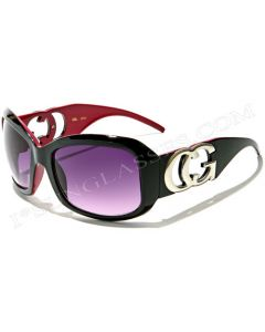CG Oversized Womens Sunglasses 36048CG Black-Purple/Smoke ML