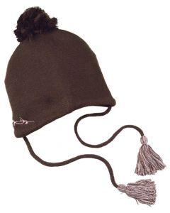 Dirty Dog Pom-Pom Beanie Hat - Cocoa
