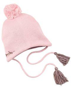 Dirty Dog Pom-Pom Beanie Hat - Pink
