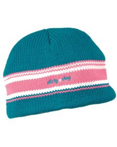 Dirty Dog Striped Beanie Hat - Peacock