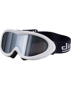 Dirty Dog Flick Ski Goggles White/Chrome-Mirror S