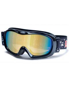 Dirty Dog Scope Ski Goggles Black/Gold-Mirror ML