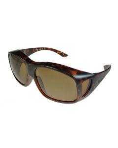 Fit-Over Sunglasses Polarised 3009PL Tortoiseshell/Brown Extra Large XL