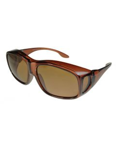 Fit-Over Sunglasses Polarised 3010PL Opaque-Brown/Brown Extra Large XL