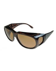 Fit-Over Sunglasses Polarised 4015PL Tortoiseshell/Brown Large Size