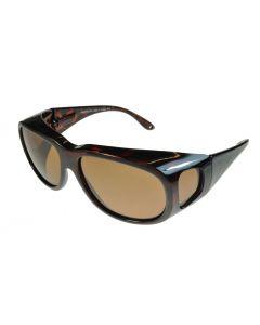 Fit-Over Sunglasses Polarised 4015PL Tortoiseshell/Brown Large Size