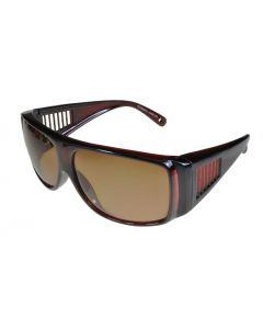 Fit-Over Sunglasses Polarised 5001PL Opaque-Brown/Brown Medium Size