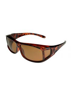 Fit-Over Sunglasses Polarised 70077 Small Size Brown Lenses