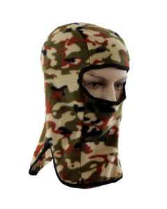 Lightweight Fleece Balaclava - Brown Camo