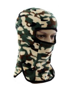 Lightweight Fleece Balaclava - Green Camo