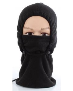 2 in 1 Fleece Balaclava - Black