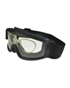 Global Vision Ballistech 3 Motorcycle Safety Goggles Black/Clear + RX Insert ML