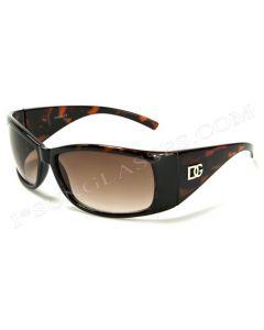 DG Kids Wraparound Sunglasses 2521 Tortoiseshell/Brown XS
