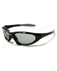 X-Loop Kids Sports Wrap Sunglasses 2056 Black-Grey/Smoke XS
