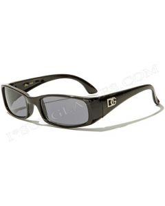 DG Kids Rectangular Sunglasses 2442 Black/Smoke XS